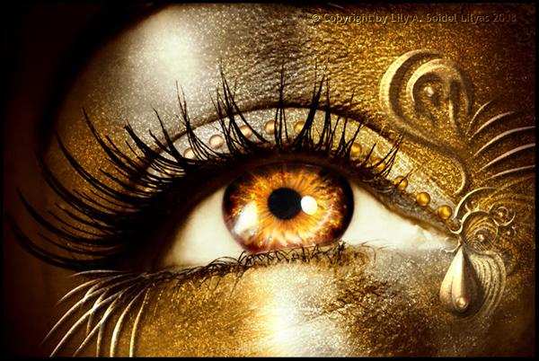 Глаза красивые карие глаза с макияжем