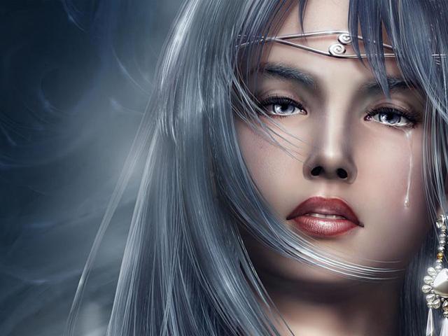 Картинка девушки со львом - 9863