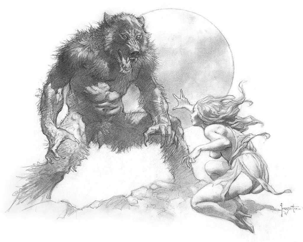 Нарисованные демон и девушка, картинка карандашом, бесплатная картинка с кодами для вставки.