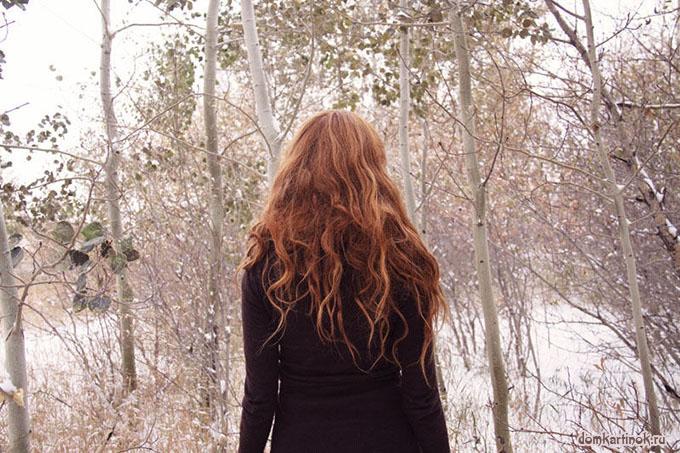 девушки фото сзади зимой шатенки