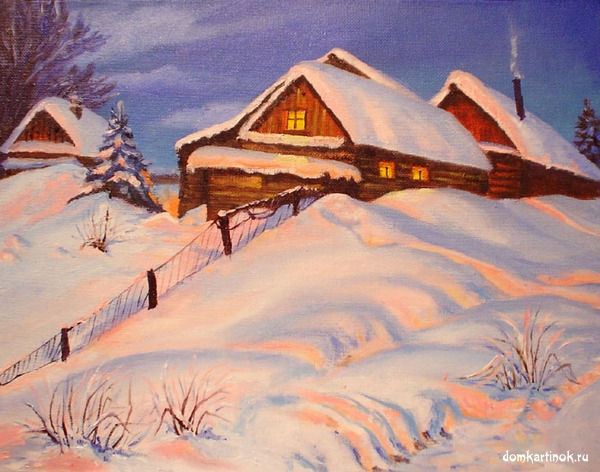 ... , рисунок, красивая картинка с кодами: domkartinok.ru/photo/zima_zimnie_kartinki/derevnja_zimoj/zima_v...