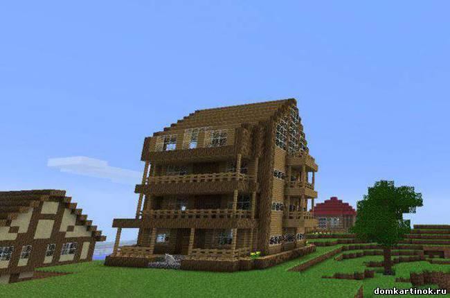 Картинки Майнкрафт дома в