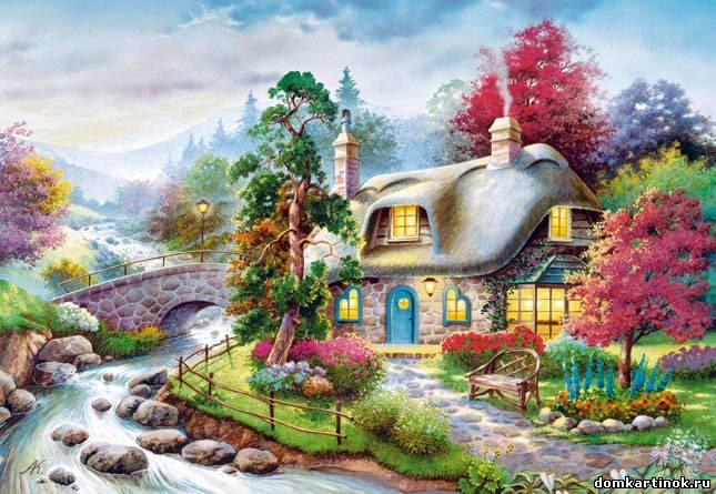 Нарисованные дома фото картинка про