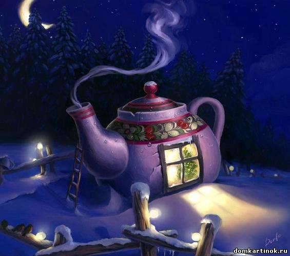 Картинки домиков из сказок зимой