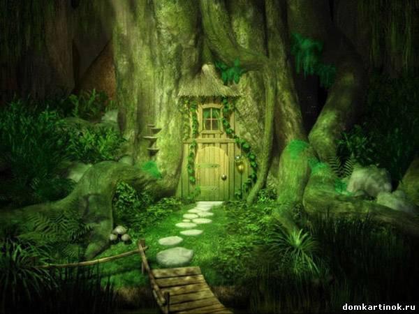 Сказочные нарисованные домики картинки  Музыкальная