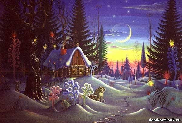 Рисунок дремучий лес
