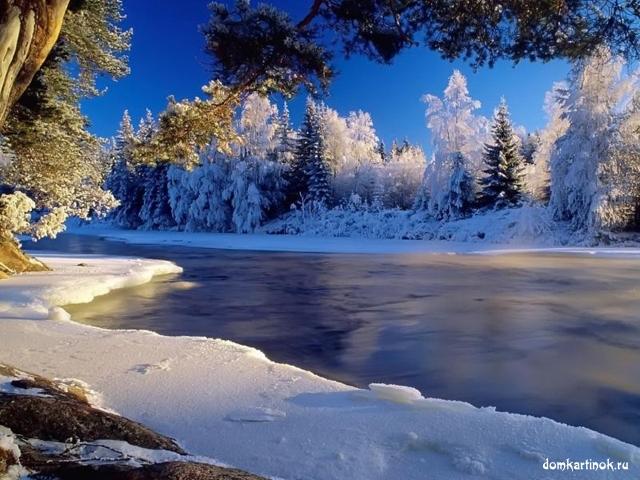 Красивая картинка зимнее утро